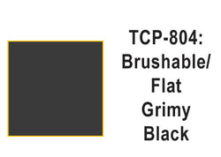 Tru-Color TCP-804 Flat Grimy Black Paint 1 Fluid Ounce