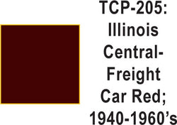 Tru Color TCP-205 Illinois Central 1940-60's Freight Car Red Paint 1 ounce