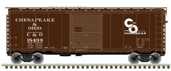 Atlas 50 003 967 N, 40' PS-1 Box Car, Chesapeake Ohio, CO, 18386