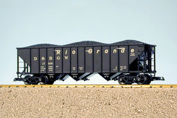 USA Trains R14004 G, 3-Bay Coal Car, Rio Grande, DRGW, 17910