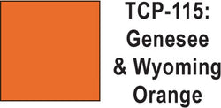 Tru Color TCP-115 Genesee and Wyoming Orange Paint 1 ounce