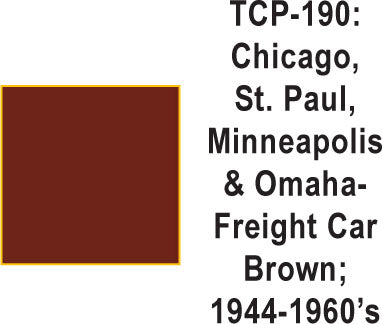 Tru Color TCP-190 Chicago, St. Paul, Minneapolis and Omaha 1944-60s Freight Car Brown Paint 1 ounce
