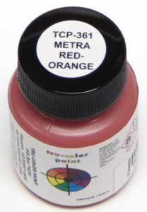 Tru Color TCP-361 Metra Red-Orange, Paint 1 ounce