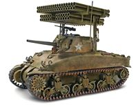 Revell Monogram 85-7863 1:32 Scale, Sherman M4A1 Screamin' Mimi Tank, Plastic Model Kit