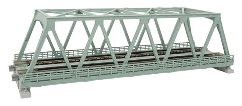 "Kato 20-439 N, Double Truss Bridge, 9 3/4"", (248mm), Light Green, 1pc"