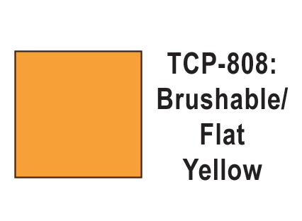 Tru-Color TCP-808 Flat Yellow Paint 1 Fluid Ounce