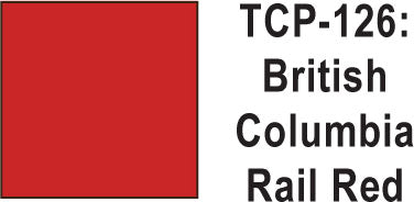 Tru Color TCP-126 British Columbia Rail Red Paint 1 ounce