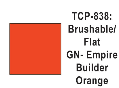 Tru-Color TCP-838 Flat Great Northern Empire Builder Orange Paint 1 Fluid Ounce
