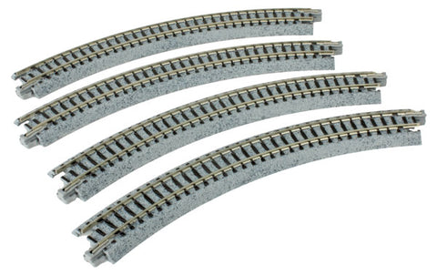 "Kato 20-170 N Unitrack 8-9/16"" (216mm) Radius Curve 45 Degree (4 Pieces)"