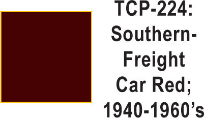 Tru-Color TCP-224 Southern 1940-50's Freight Car Red 1 Fluid Ounce
