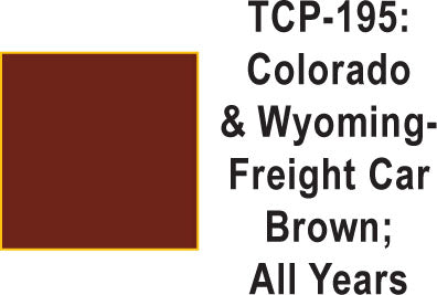 Tru Color TCP-195 Colorado and Wyoming Freight Car Brown Paint 1 ounce