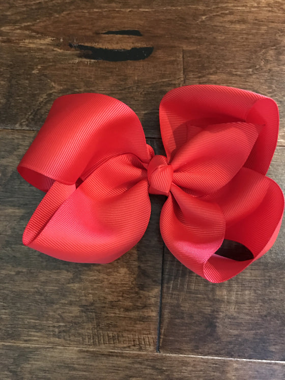 Hair Bow - Red