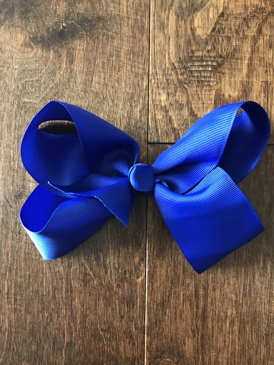 Hair Bow - Royal Blue
