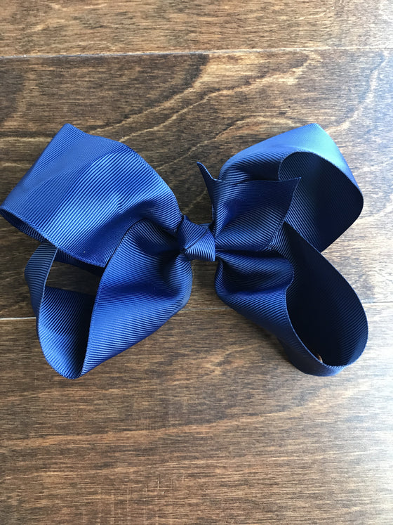 Hair Bow - Navy