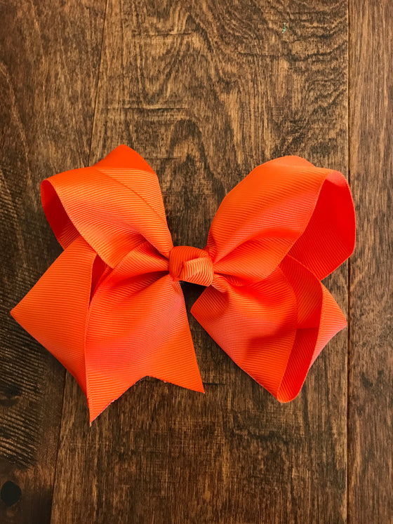 Hair Bow - Orange