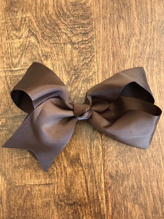 Hair Bow - Brown