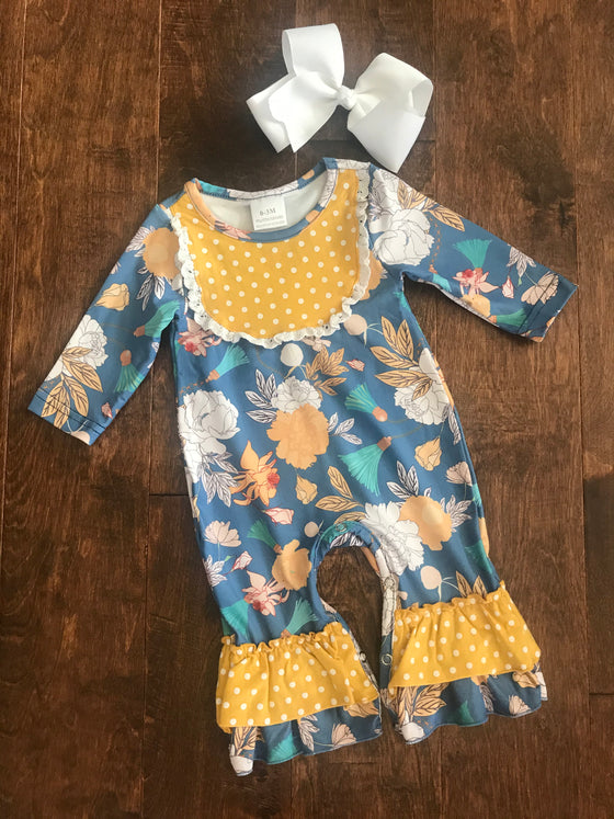 Infant - Yellow/Blue Floral