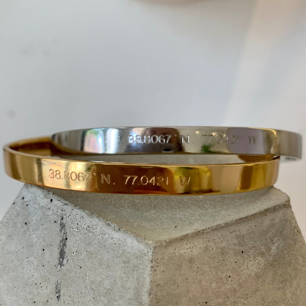 Atlas Cuff | Old Town Alexandria Coordinates - She's Unique Jewelry