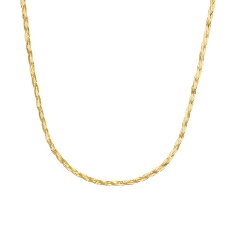 Braided Herringbone | 10K Gold - She's Unique Jewelry