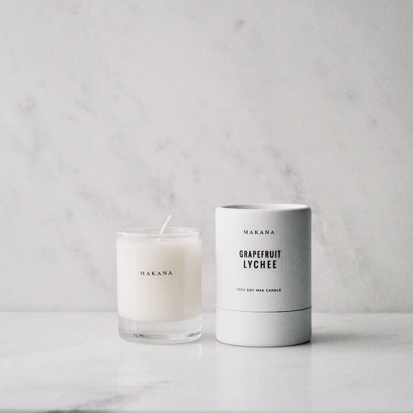 Grapefruit Lychee - Petite Candle 3 oz - She's Unique Jewelry