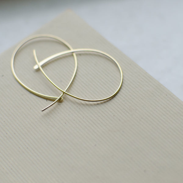 Teardrop Wire Threader Earrings