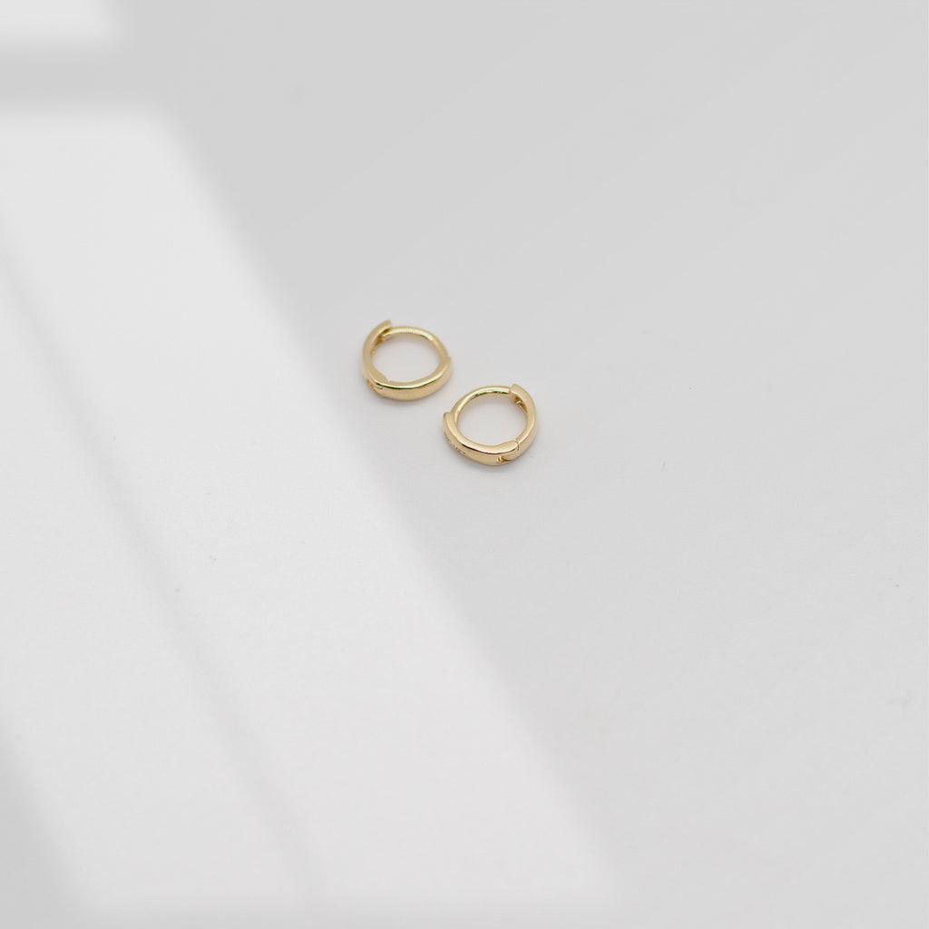 Tiny Huggie Hoop Earrings | 14K - She's Unique Jewelry