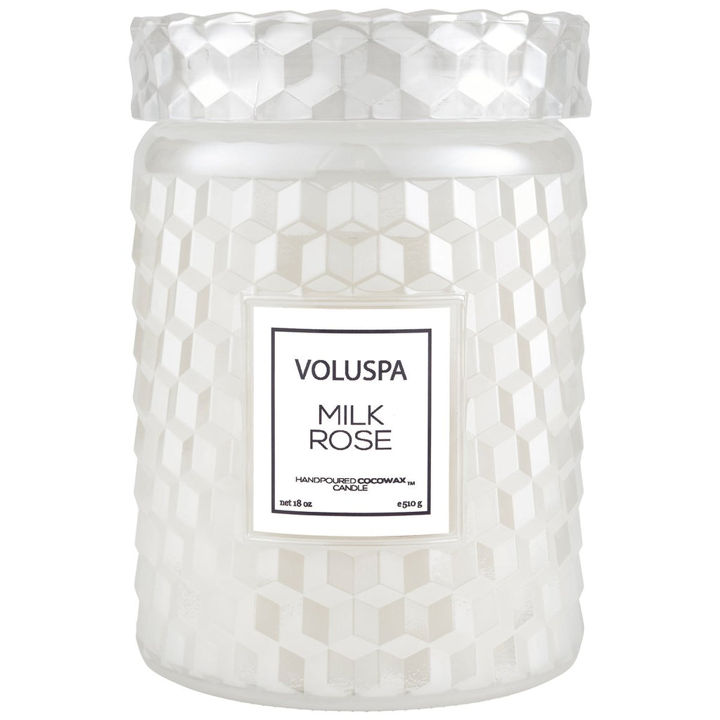 Voluspa Milk Rose Large Jar Candle - She's Unique Jewelry