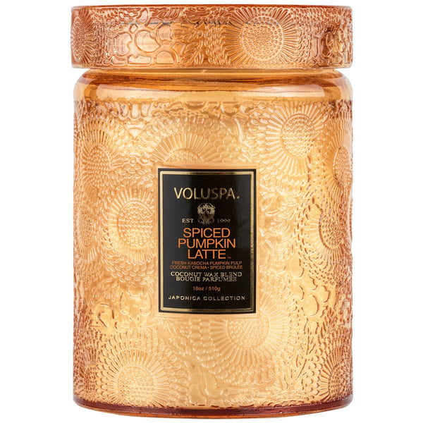 Voluspa | Spiced Pumpkin Latte Mini Glass Jar Candle - She's Unique Jewelry