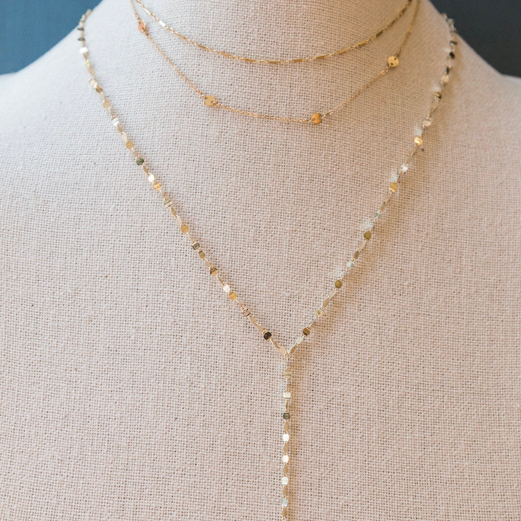 Helena Chain Lariat Necklace