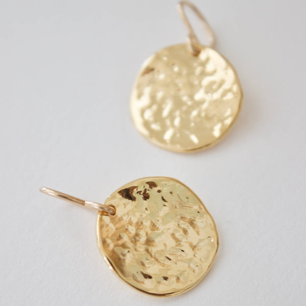 Hammered Medallion Earrings - She's Unique Jewelry