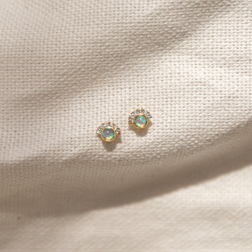 Aliana Opal Earrings - She's Unique Jewelry