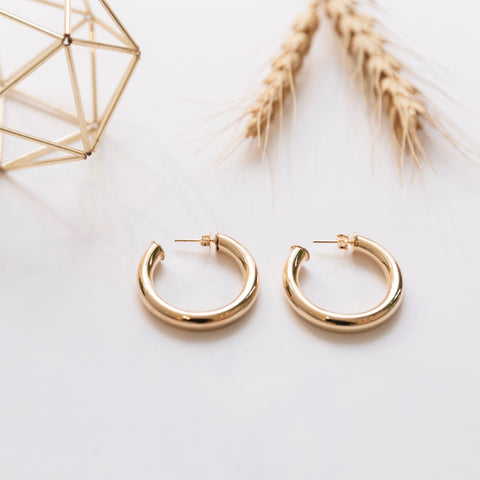 Cleo Thick Hoop Earrings