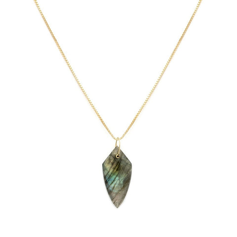 Cler Necklace | Labradorite - She's Unique Jewelry