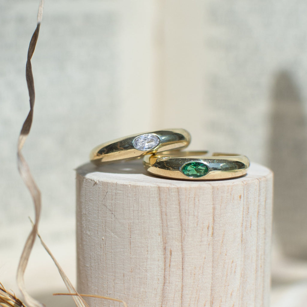 Rounded Gem Ring - She's Unique Jewelry