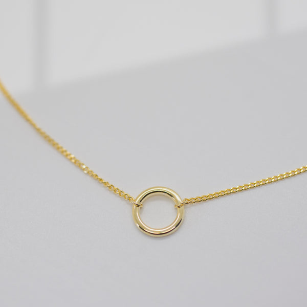 Curb Chain Open Circle Necklace - She's Unique Jewelry