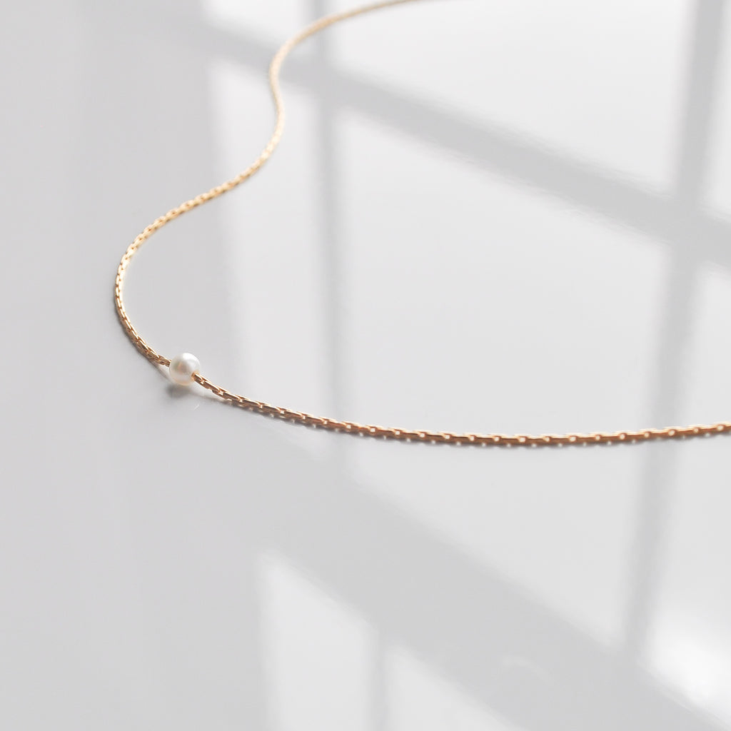 Mina Necklace | Pearl - She's Unique Jewelry
