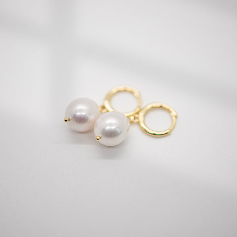 Classic Pearl Huggie Earrings