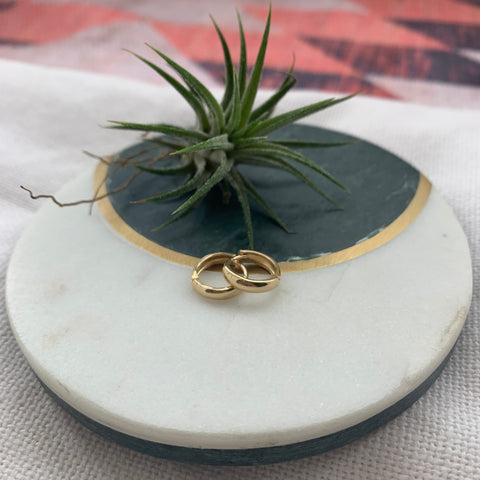 Chunky Huggie Hoops | 14K Gold - She's Unique Jewelry