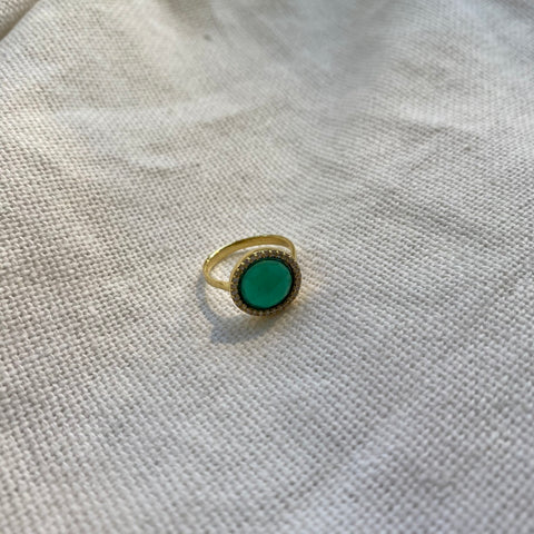 Zina Ring | Green Onyx - She's Unique Jewelry