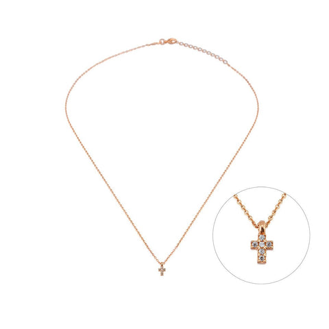 Mini Cross Necklace | CZ - She's Unique Jewelry