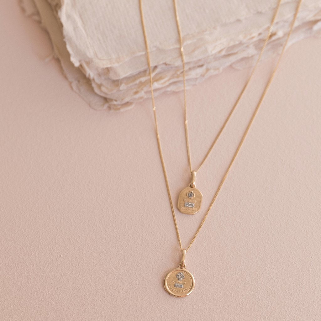 Love Token Necklace | 14K - She's Unique Jewelry