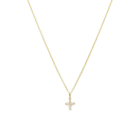 Tiny Cross Necklace - She's Unique Jewelry