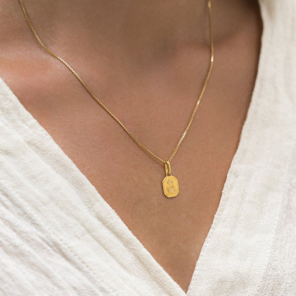 Love Token Necklace | Square - She's Unique Jewelry