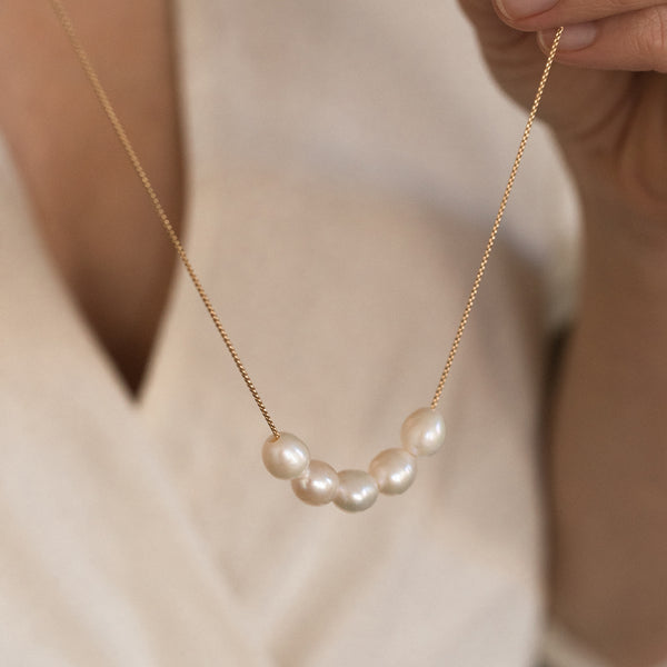 Leah Alexandra Mer Necklace | Pearl - She's Unique Jewelry