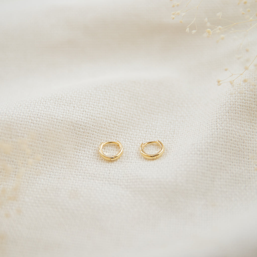 Plain Small Huggie Earrings - She's Unique Jewelry