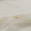 Disc Prong Stud Earrings | 14K - She's Unique Jewelry