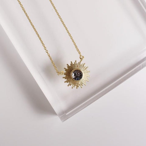 Katherine Necklace | Black Deco Diamond - She's Unique Jewelry