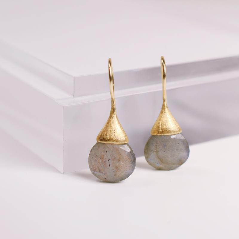 Drew Drop Earrings | Labradorite - She's Unique Jewelry