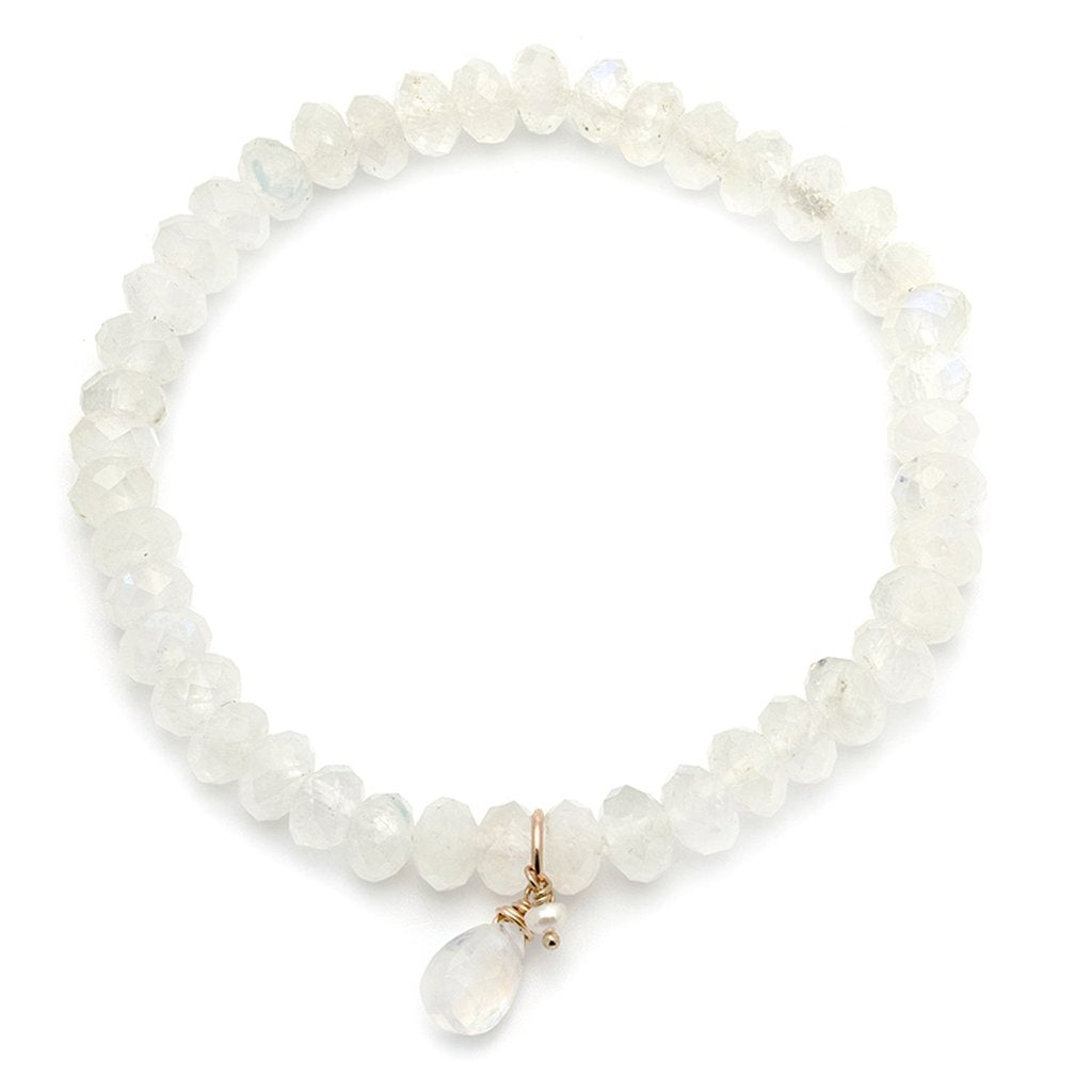 Social Bracelet | Moonstone & Pearl - She's Unique Jewelry