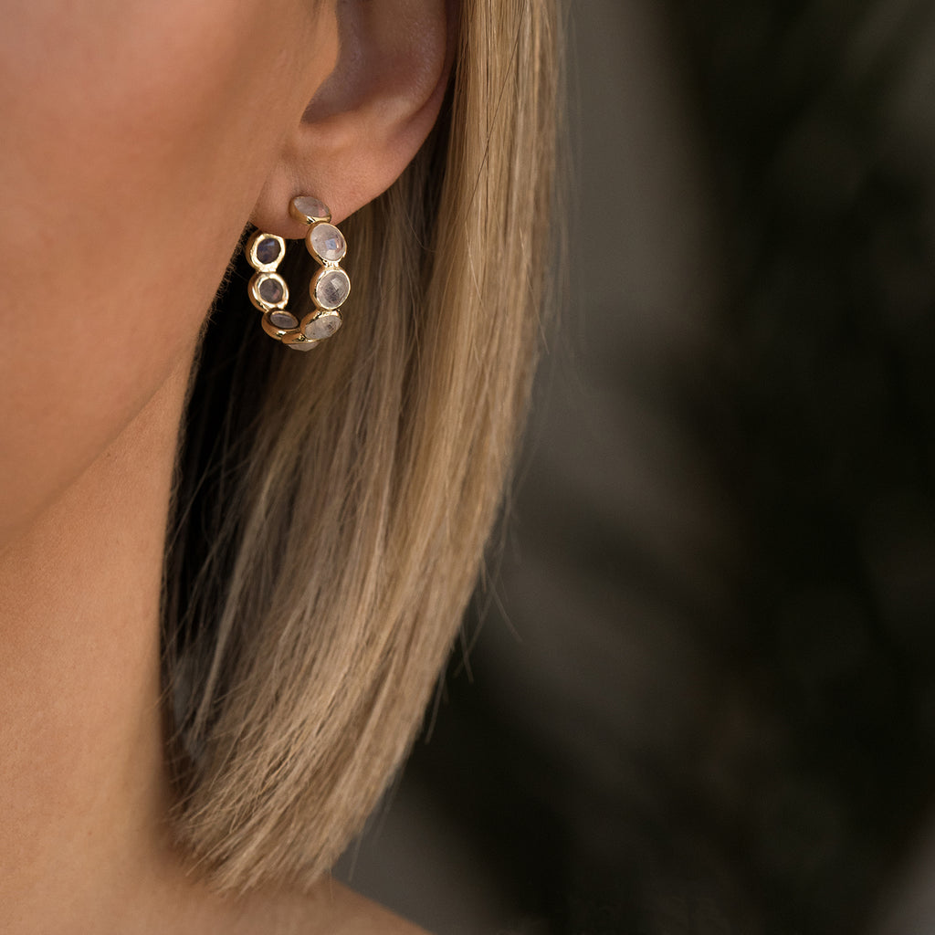 Leah Alexandra Sola Earrings | Moonstone - She's Unique Jewelry